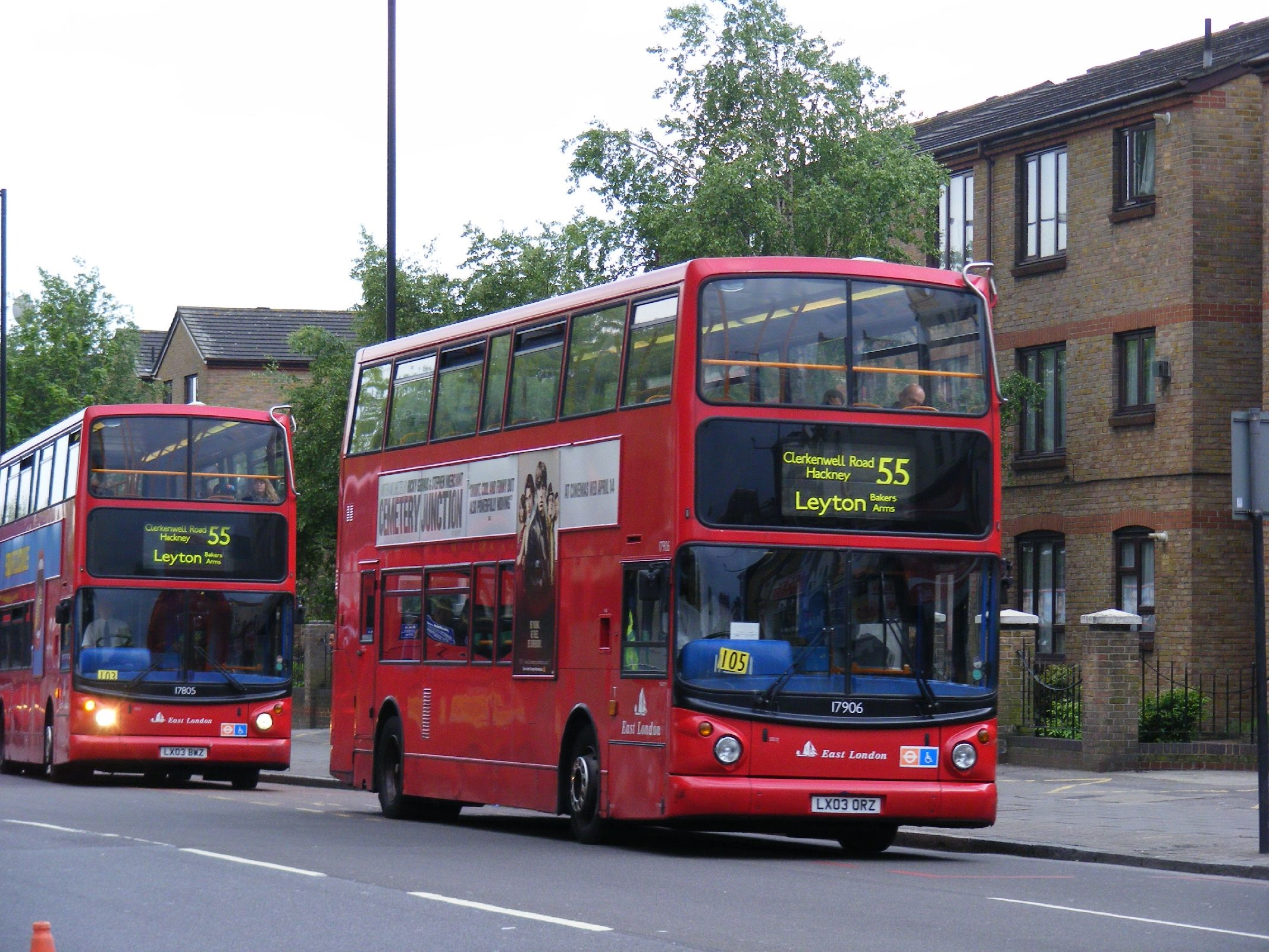 London Bus route 55 Buses Clapton Pond