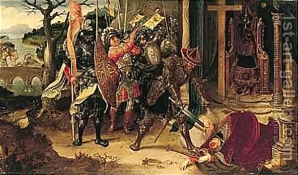 The Emperor Heraclius Beheading The Persian King Chosroe